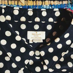 🐺 Kate Spade Polka Dot Button Up Top 🐺
